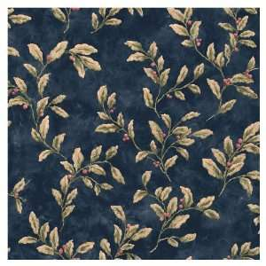 allen + roth Blue Berries And Leaves Wallpaper LW1341137