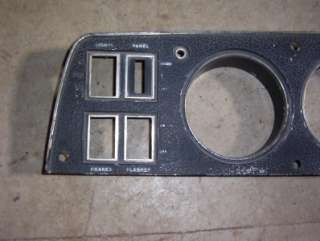 1969 CHARGER INSTRUMENT CLUSTER DASH BEZEL IN FAIR CONDITION