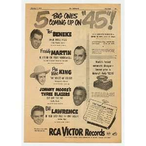 1949 5 Big Ones on 45 RCA Victor Records Print Ad (Music