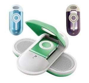 New BLUE GPX Amplified Speakers Audio Dock for Apple Ipod Shuffle