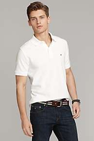 NEW $49 MENS TOMMY HILFIGER CLASSIC KNIT POLO SHIRT WHITE COLOR Large