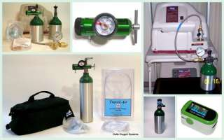Portable Oxygen System w/ Cart for Home Medical or Travel 15CF D