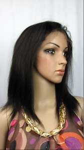 121b# lace front wig remy indian hair yaki straight