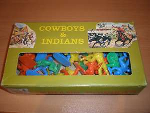 70s GREEK SOLPA PLASTIC TOY SOLDIERS WESTERN INDIANS COWBOYS MIB