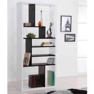Modern White Wood Bookcase / Display Shelf