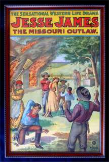 JESSE JAMES MISSOURI OUTLAW PLAY WESTERN POSTER COWBOY