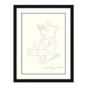 Disney Framed Art Pooh Bear Makes a Friend Children: Home