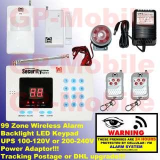 99 ZONE WIRELESS HOME SECURITY SYSTEM ALARM AUTO DIALER