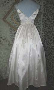 Romantic Gunne Sax Ivory Wedding Dress, Ribbon Fantasy Long Formal, 5