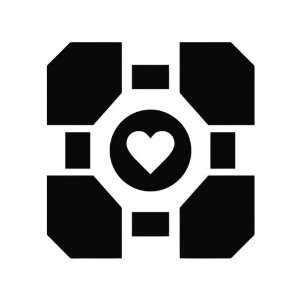 Portal Companion Cube Die Cut Vinyl Decal Sticker   5.75