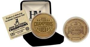 Alabama Crimson Tide Bronze National Champions Coin