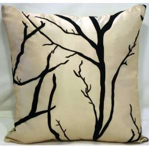 Two (A Pair) Silky Zen Cushion Pillow Covers 17x17