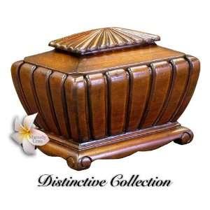 Novella Hand Carved Mahogany Wood Cremation Urn