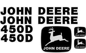 John Deere 450D Crawler Dozer Decal Set Whole Machine