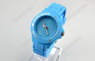 Fashion Silicone Quartz Heart Love Jelly Watch Five Colors available