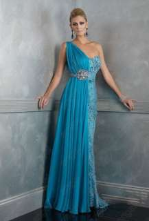 Blue Wedding dress Bridesmaid /prom gown Evening Dress