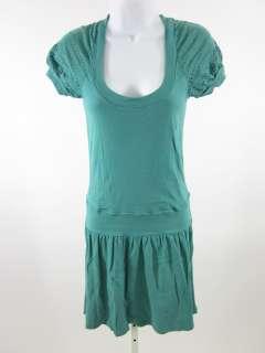 THREE DOTS Sea Foam Green Short Sleeve Dress Sz M