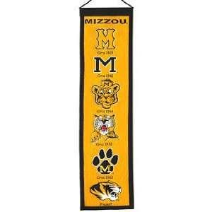 Missouri Tigers MIZZOU MU NCAA Wool 8 X 32 Heritage