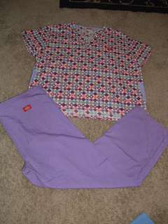 Nursing Nurse Uniform Scrub TOP & PANTS SET size M/L DICKIES