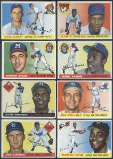 1955 Topps Complete Baseball Set Koufax Clemente VGEX
