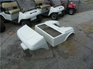 CLUB CAR GOLF CART NEW WHITE BODY With LIGHT KIT #CC WHITE Body Set