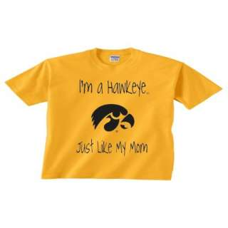 Iowa Hawkeye Like My Mom T Shirt 134   Gold