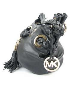 Michael Kors Braided Strap Shoulder Bag USED Black $298