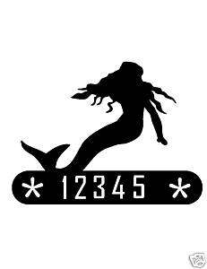 MERMAID METAL HOME ADDRESS SIGN WALL DECOR HOUSE