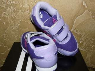 NEW ADIDAS GIRLS SNICE CF I TRAINING KIDS SHOES PURPLE/PINK STRIPE