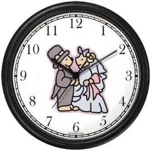 Wedding Couple Teddy Bears   Bear Animal Wall Clock by