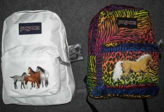 Girls Horse Backpack~JanSport~Animal Print OR White~NWT