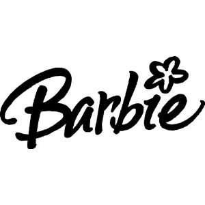 BARBIE Black 8 Vinyl STICKER / DECAL Automotive