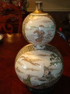 Antique Japanese Satsuma Vase, Ca 1850, 12