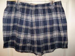 American Heritage Flannel Boxers Boxer Shorts Navy Blue Mens Size XL