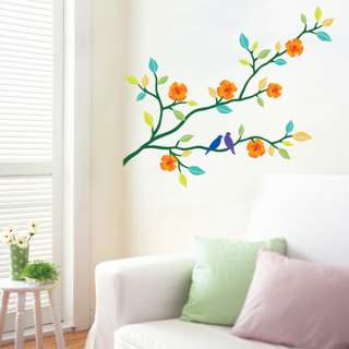 BLOOMING TREE Mural Art Removable Wall Stickers Paper