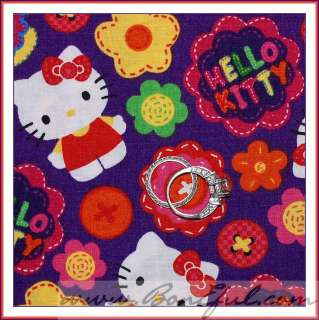 Pink Hello Kitty Flower Groovy Button GIRL Boutique 4 School