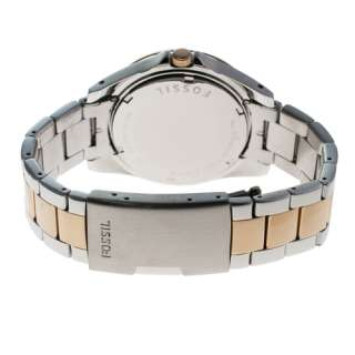 NEW* Fossil Womens Riley Silver Two Tone Analog Crystal Quartz Watch