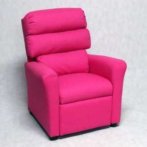 Brazil Furniture Waterfall Back Child Recliner   Dixie Pink: Furniture
