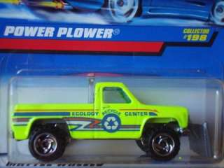 Hot Wheels Old Blue Card Power Plower Truck Lime #198