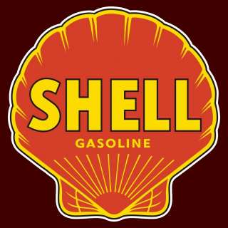 Shell Gasoline   12 Gas Pump Decal