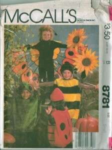OOP McCalls Childs Halloween Costume Sewing Pattern Uncut Boys Girls