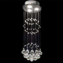 Indoor 3 light Chrome/ Crystal Ball Chandelier