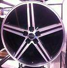 22 IROC BLACK WHEELS RIMS AND TIRES 5X120.65 MONTE CARLO CAMARO