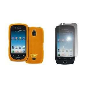 EMPIRE Orange Silicone Skin Case Cover + Mirror Screen