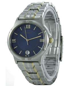 Seiko Mens Blue Dial Two tone Watch