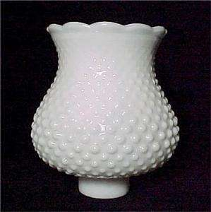 White Milk Glass Hobnail 1 5/8 X 5 Lamp Shade Globe Chandelier Wall