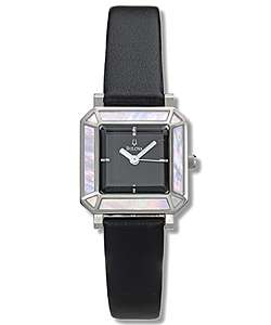 Bulova Womens Black Strap Watch