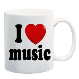 I LOVE MUSIC Mug Coffee Cup 11 oz ~ Heart Music