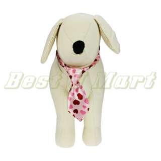Adjustable Pet Dog Cat Handsome Bow Tie Necktie Clothes Pink Heart