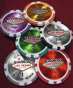 1000 Las Vegas Laser Professional Poker Chips